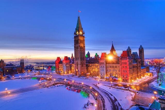 Quais os lugares mais quentes do Canadá?