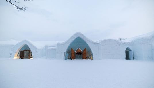 Hotel de Gelo em Quebec