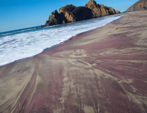 Praia da Areia Roxa no Canadá